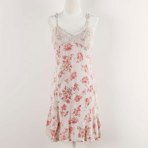 Anthropologie by Eloise Floral Chemise Gown